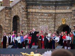 Выступление на открытии фонтанов в Петергофе - Музыкальный театр детей Радуга