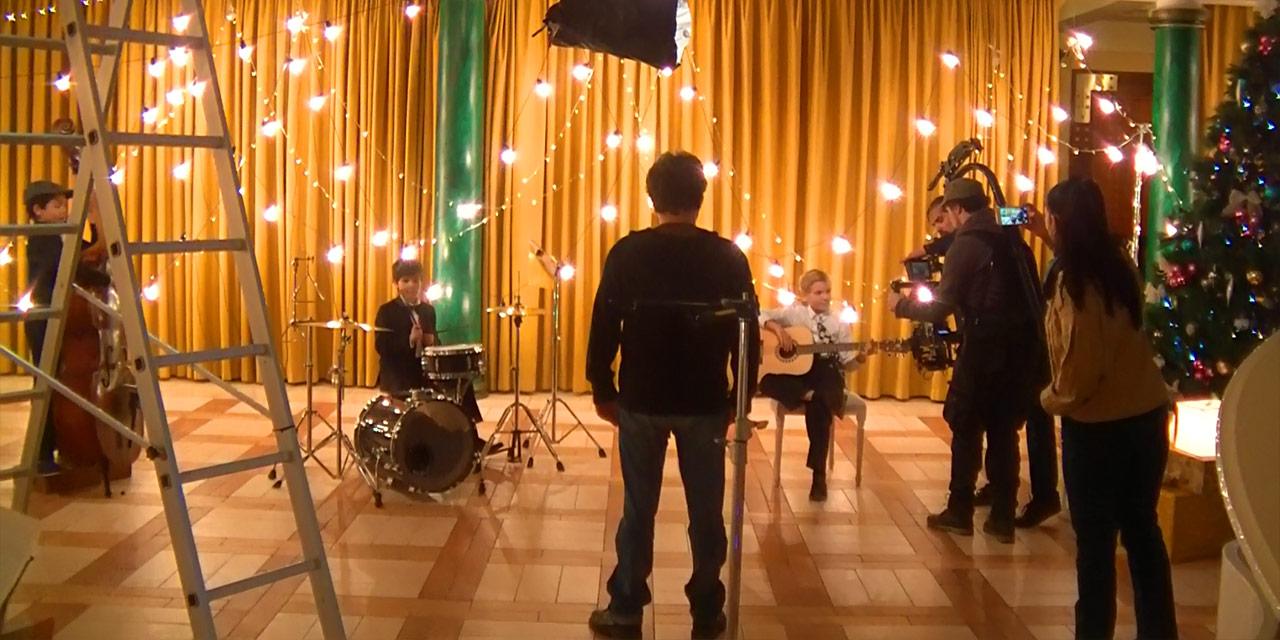 Съемки клипа на песню «Новогодняя колыбельная»