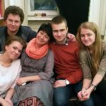 Любимые ученики-выпускники и друзья - Соня Акимова, Карина Глазунова, Антон Петров