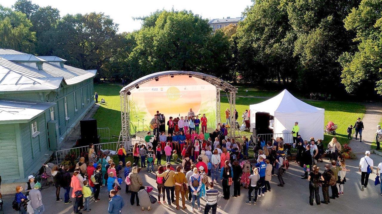 Выступление на фестивале уличных искусств Улитка