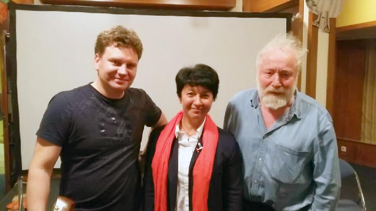 С.Васильев, М.Ланда, Ю.Норштейн на фестивале КРОК