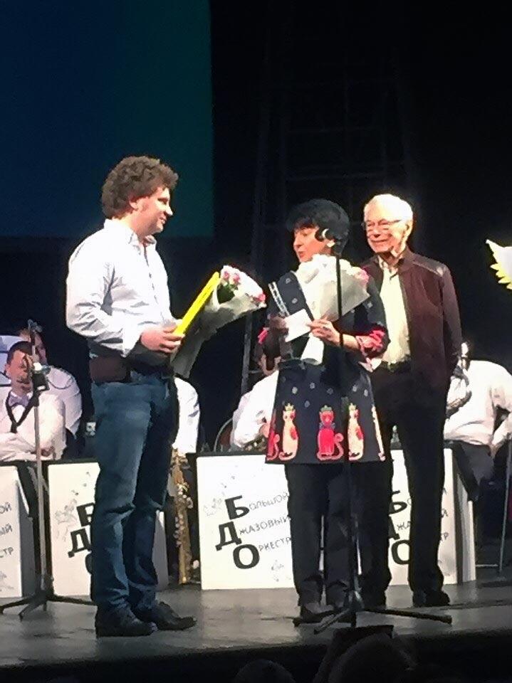 Марина Ланда и Сергей Васильев на сцене